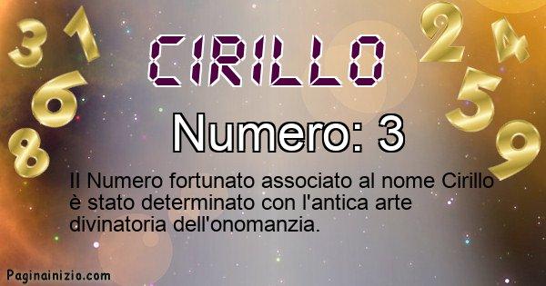 Cirillo - Numero fortunato per Cirillo