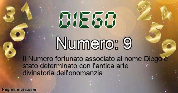 Diego - Numero fortunato per Diego