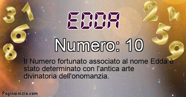 Edda - Numero fortunato per Edda