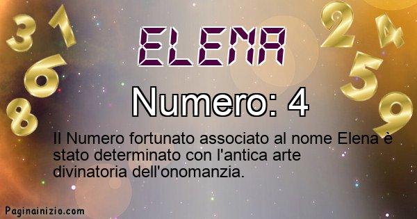 Elena - Numero fortunato per Elena