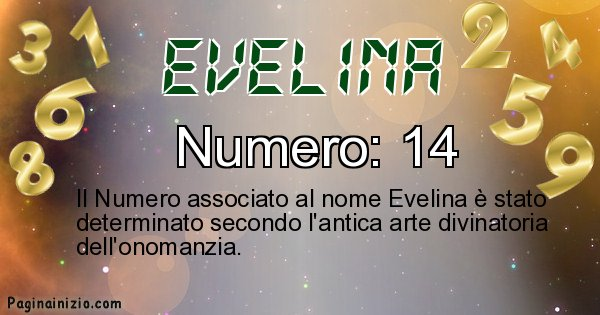 Evelina - Numero fortunato per Evelina
