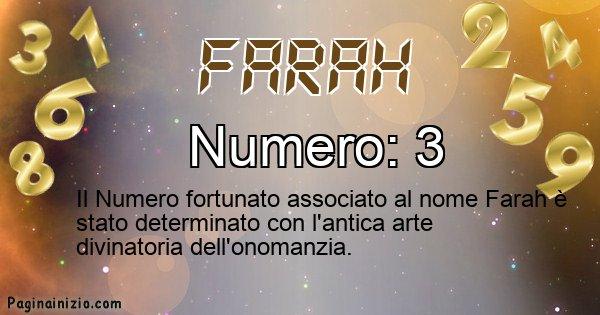 Farah - Numero fortunato per Farah