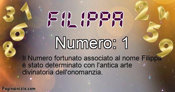 Filippa - Numero fortunato per Filippa