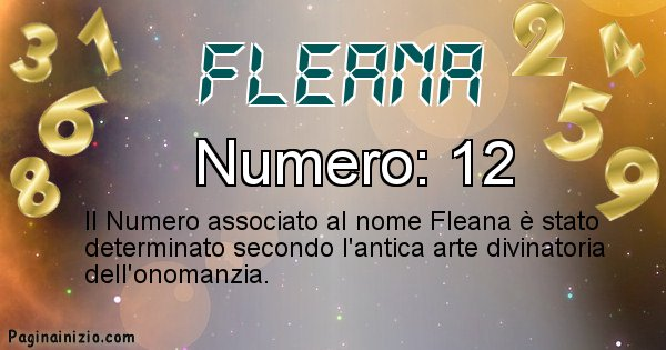 Fleana - Numero fortunato per Fleana