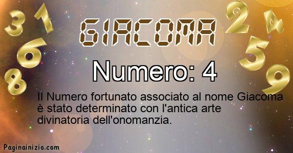Giacoma - Numero fortunato per Giacoma