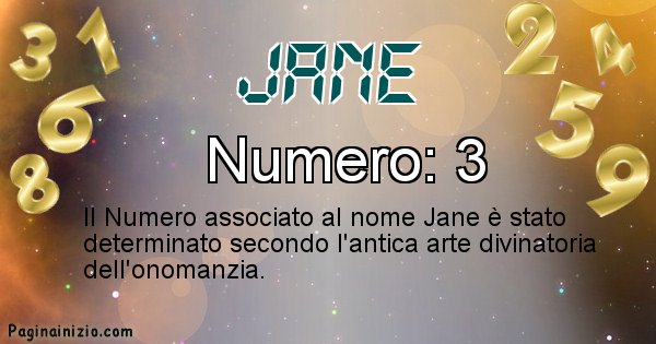 Jane - Numero fortunato per Jane