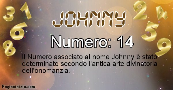 Johnny - Numero fortunato per Johnny