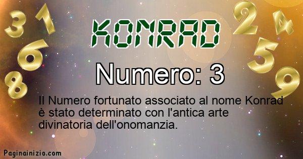 Konrad - Numero fortunato per Konrad