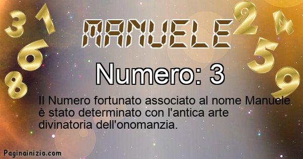 Manuele - Numero fortunato per Manuele
