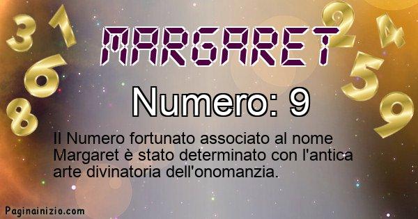 Margaret - Numero fortunato per Margaret