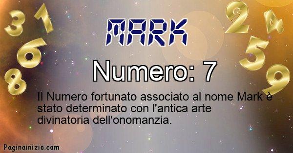 Mark - Numero fortunato per Mark