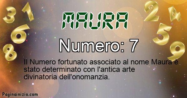 Maura - Numero fortunato per Maura