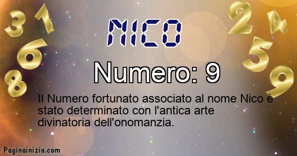 Nico - Numero fortunato per Nico