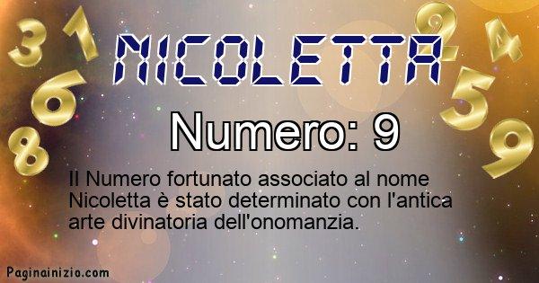 Nicoletta - Numero fortunato per Nicoletta