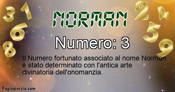 Norman - Numero fortunato per Norman
