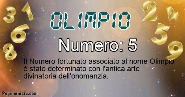 Olimpio - Numero fortunato per Olimpio
