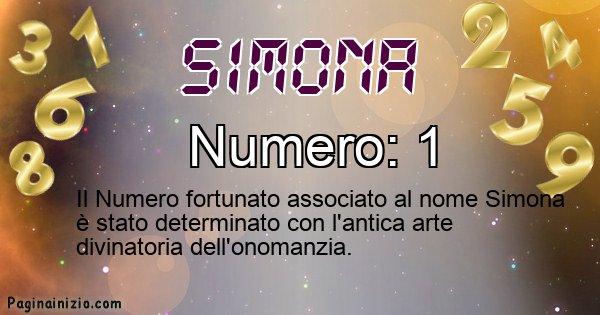 Simona - Numero fortunato per Simona