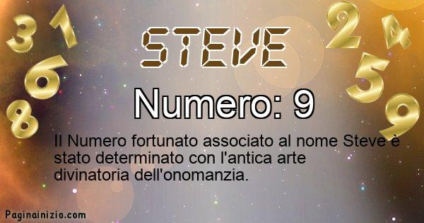 Steve - Numero fortunato per Steve