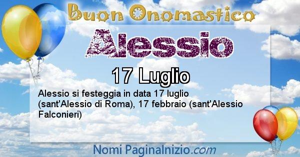 Alessio - Onomastico del nome Alessio
