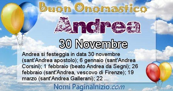 Andrea - Onomastico del nome Andrea