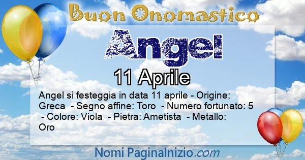 Angel - Onomastico del nome Angel