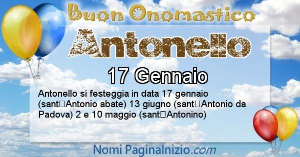 Antonello - Onomastico del nome Antonello