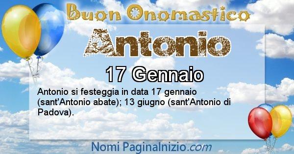 Antonio - Onomastico del nome Antonio