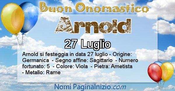 Arnold - Onomastico del nome Arnold