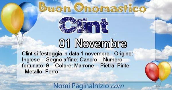 Clint - Onomastico del nome Clint