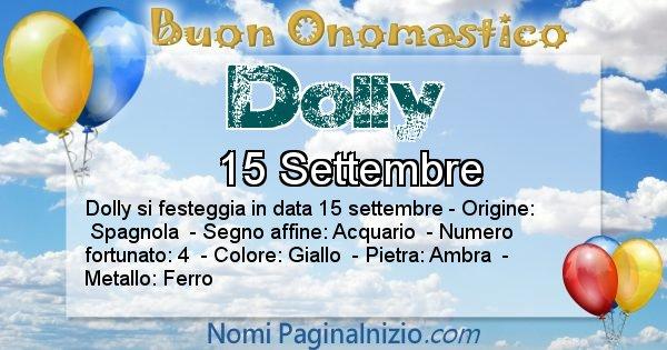Dolly - Onomastico del nome Dolly