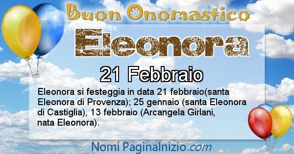 Eleonora - Onomastico del nome Eleonora