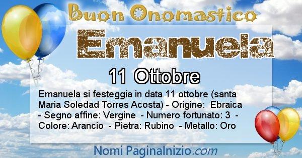 Emanuela - Onomastico del nome Emanuela