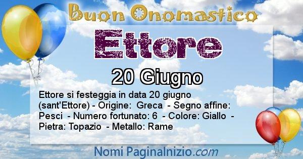 Ettore - Onomastico del nome Ettore