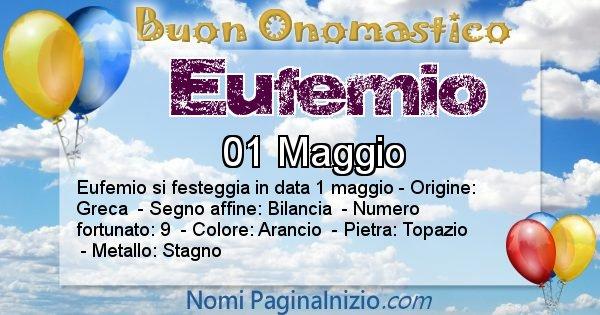 Eufemio - Onomastico del nome Eufemio