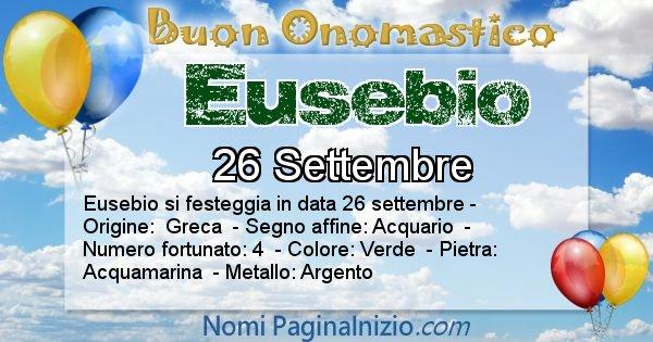 Eusebio - Onomastico del nome Eusebio