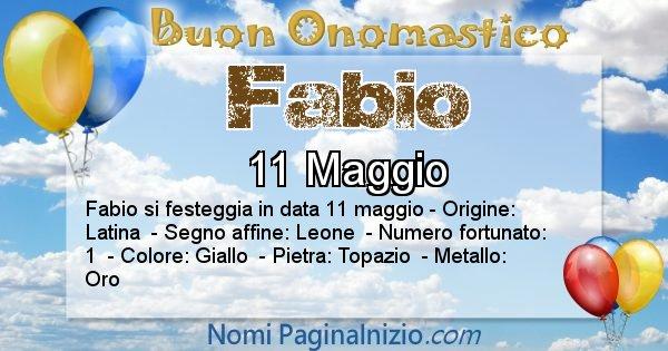 Fabio - Onomastico del nome Fabio