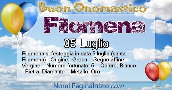 Filomena - Onomastico del nome Filomena
