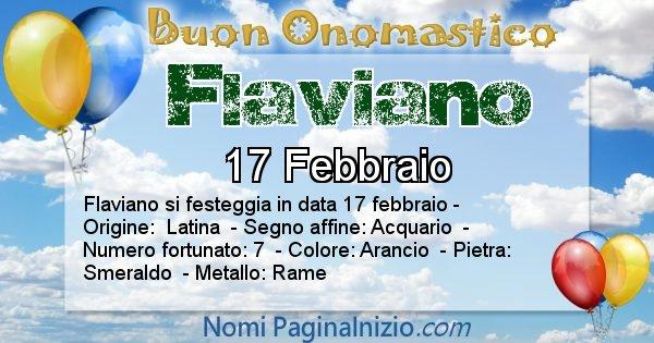 Flaviano - Onomastico del nome Flaviano