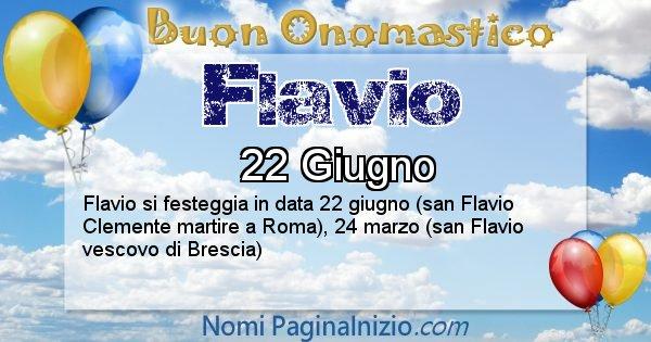 Flavio - Onomastico del nome Flavio