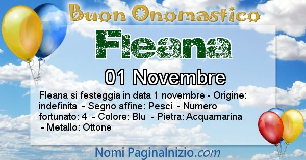 Fleana - Onomastico del nome Fleana