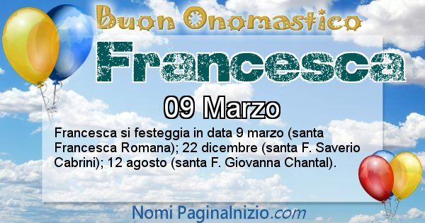 Immagini Con Il Nome Francesca