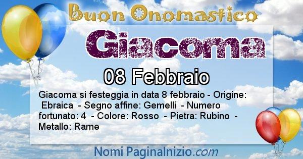 Giacoma - Onomastico del nome Giacoma