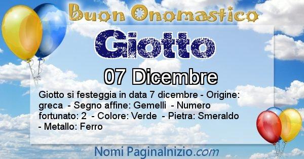 Giotto - Onomastico del nome Giotto