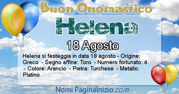 Helena - Onomastico del nome Helena
