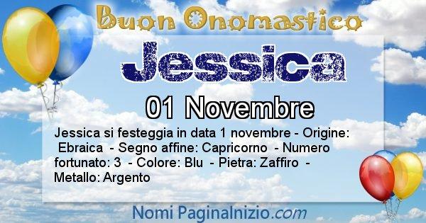Jessica - Onomastico del nome Jessica