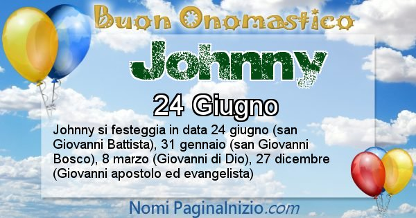 Johnny - Onomastico del nome Johnny