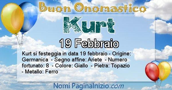 Kurt - Onomastico del nome Kurt