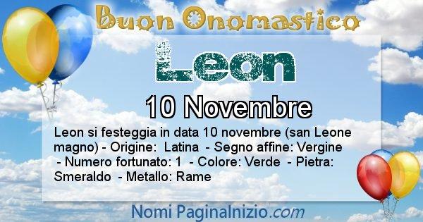 Leon - Onomastico del nome Leon