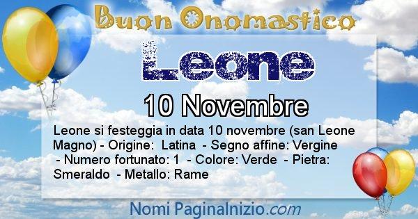 Leone - Onomastico del nome Leone