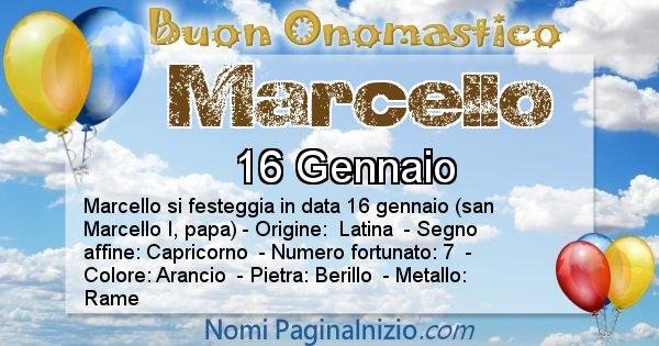 Marcello - Onomastico del nome Marcello